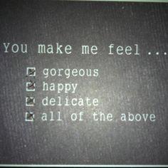 La relación perfecta debe hcrme sentir...
