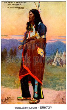 hiawatha s childhood illustration by maria louise kirk for the  the song of hiawatha illustration to 1885 epic poem by henry wadsworth longfellow caption
