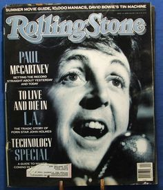 Rolling Stone Magazine Covers | ROLLING STONE MAGAZINE - COVER ISSUE #554 1989 - PAUL McCARTNEY COVER