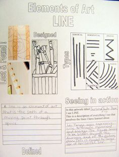 great worksheets on elements of art...could be changed for 7th and 8th or younger!