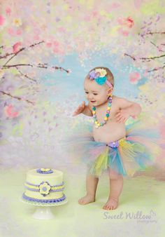 Your little lady will look and feel like a princess in this beautiful pastel lavender, pink, yellow, and aqua tulle tutu and matching headband!!!! I