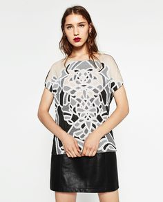 Image 2 of RUBBERISED T-SHIRT from Zara