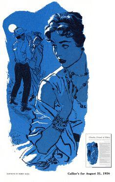Collier's Magazine Illustrated by Robert Bugg August 1956 Arte Sketchbook, Grafik Design, Pretty Art, Art Plastique, Illustration Art, Magazine Illustration, Aesthetic Art, Cool Drawings, Art Inspo