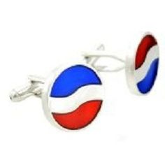 Pepsi & Logo Pepsi Logo, Cufflinks, Gift Wrapping, Silver, Red, Gifts, Blue, Fashion Design, Accessories