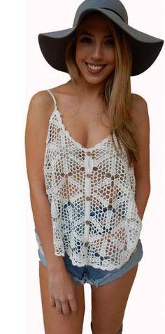 Mia Crochet Cami