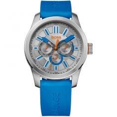 Hugo Boss Orange Multifuction Blue Rubber Strap 1512995
