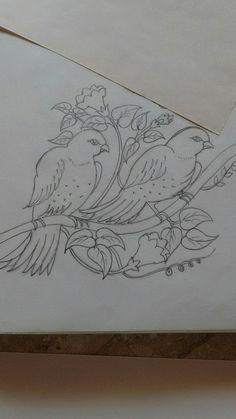 Swallow & Flowers Tattoo by Medusa Lou Tattoo Artist - medusaloux TattooIdeasFlower flowertattoos Bird Embroidery, Hand Embroidery Designs, Embroidery Stitches, Embroidery Patterns, Beautiful Rangoli Designs, Kolam Designs, Pencil Art Drawings, Easy Drawings, Mural Painting