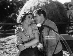 "Myrna Loy and Warner Baxter star in the horse racing comedy Broadway Bill""."
