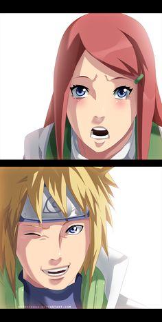 Kushina and Minato by StingCunha.deviantart.com on @deviantART