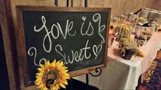Decorate by design event planner Casper Wyoming candy bar for a country themed wedding