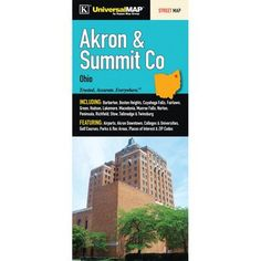 Universal Map Akron/Summit County Fold Map (Set of 2)