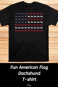 American Flag Silhouette Dachshund 4th Of July T-shirt #affiliate #ad #flag #americanflag #dachshund #doxie #doglovers #fourthofjuly #4thofjuly #redwhiteandblue #usa #wienerdog #weeniedog #giftideas Weenie Dogs, Dachshunds, Cute Tops, Fourth Of July, American Flag, Silhouette, Usa, T Shirt, Shopping