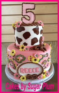 Cowgirl Cake: using multiple colors... No cow print