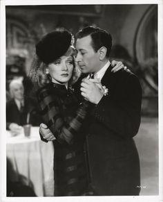 Marlene Dietrich slow-dances with George Raft 1941 photo... Manpower