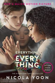 Movie poster for Everything, Everything based on the YA book by Nicola Yoon, starring Amandla Stenberg as Maddy and Nick Robinson as Olly. | Everything, Everything Movie | In theaters now