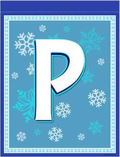 Banderines de Frozen para Imprimir Gratis. Frozen Birthday Banner, Girl Birthday, Birthday Parties, Birthday Ideas, Monogram Alphabet, Alphabet And Numbers, Frozen Dessert Table, Banner Letters, Tent Cards