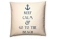 This is for my daughter! Keep Calm 20x20 Cotton Pillow, Cream on OneKingsLane.com