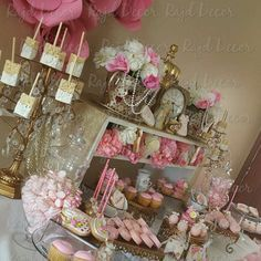 Pretty Pink And Gold Tea Party Baby Shower Party! See More Party Ideas At  CatchMyParty