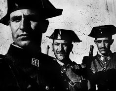 Eugene Smith 1951 Extremadura Province of Caceres. Members of the Guardia Civil, the rural police force in charge of patrolling the countryside. (from 'Spanish Village' photo-essay) Photography Career, Street Photography, Eugene Smith, Atlanta, Village Photos, American Photo, Photographer Portfolio, Richard Avedon, Great Photographers