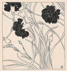 jugendstil carnations