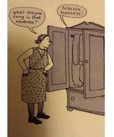 Haha love it :) #narnia #alwaysreading #bookgram #readbooks