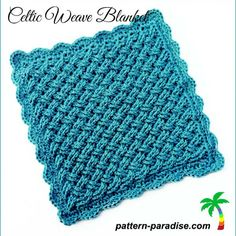 FREE Crochet Pattern – Celtic Weave Blanket