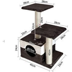 Cat Scratching Poles Post Furniture Tree White Dark Grey for sale online Cat Tree House, Cat House Diy, Cat Scratching Tree, Cat Tree Plans, Kitten Beds, Cat Gym, Dog Toilet, Diy Cat Tree, Cat Scratcher