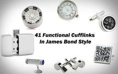 41 Functional Cufflinks In James Bond Style
