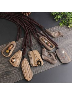 Driftwood Jewelry, Wooden Jewelry, Resin Jewelry, Jewelry Gifts, Handmade Jewelry, Fine Jewelry, Letter Pendant Necklace, Wooden Necklace, Stone Pendants