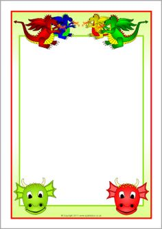 Dragons Page Borders Page Borders, Borders And Frames, Fairy Tale Theme, Fairy Tales, Sparkle Box, Dragon, Paper Envelopes, Boarders, Writing Paper