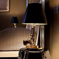 Modern Flos Lounge Gun AK47 Chrome Gold Gun Starck Design Philippe Bedroom Table Lamps Desk Light Read Night Light Super Light