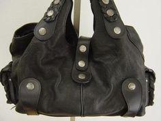 Chloe Large Silverado Tote Bag   Black Leather Hobo   Classic Chloe Handbag