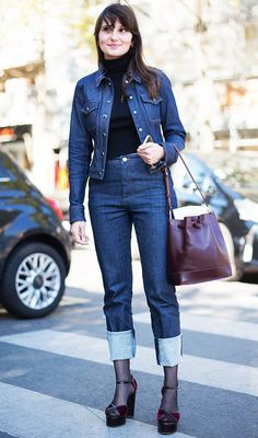 Denim on denim never looked so chic!