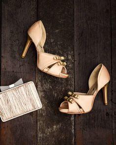 ChristyNg Atirah Gold Peep Toe Pumps | Buy ➜ http://shoespost.com/christyng-atirah-gold-peep-toe-pumps/