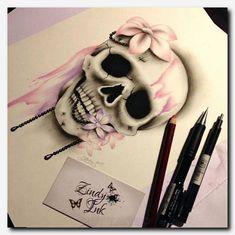 Sweet Decay Skull Tattoo Design by Zindy S. Nielsen- Sweet Decay Skull Tattoo Design by Zindy S. Nielsen Sweet Decay Skull Tattoo Design by Zindy S. Mädchen Tattoo, Ankle Tattoo, Cover Up Tattoos, Back Tattoo, Tattoo Drawings, Tattoo Music, Trendy Tattoos, Sexy Tattoos, Tribal Tattoos