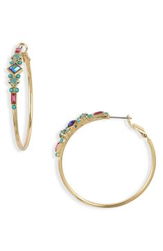 Women's Sorrelli Sadie Hoop Earrings Resin Jewelry, Bohemian Jewelry, Sadie, Nordstrom, Hoop Earrings, Crystals, Nails, Bracelets, Gold
