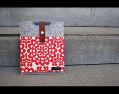 Ipad case  light grey wool felt sleeve and Amy by AlexMLynch, $48.00