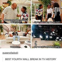 GOTTA SHOW THIS TO MR FINNER WE BEEN TALKING ABOUT BREAKING THE FOURTH WALL IN ENGLISH THIS A GOOD EXAMPLES