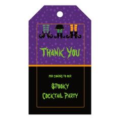 Witches Feet Halloween Party Gift Tags - kids kid child gift idea diy personalize design