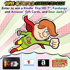 It's a bird, it's a plane, it's Super @Nicole Esper! Enter to #win a Kindle Fire HD, online gift cards, or #SourJacks: http://super-sour-jack-sweeps.herokuapp.com