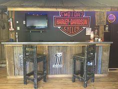 Garage Bar, Man Cave, Basement Bars, Rustic Bar, Harley Davidson ...