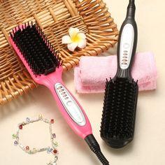 KIKI electric quick heating Hair Straightener brush