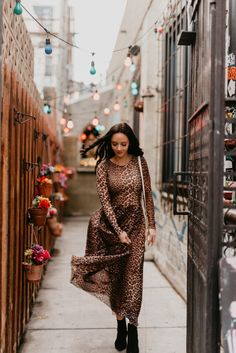 198f3a0f9e Animal print maxi dress featured by top US fashion blog
