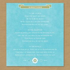 Sugared Style Map Card weddingneeds.carlsoncraft.com