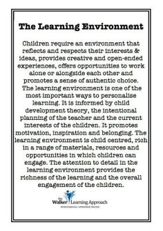 Teachers need to be flexible practitioners, who enable students to learn at their own depth, complexity and pace. This requires creating rich and engaging lessons that cater for various learning styles (e. linguistic, visual, auditory and kinaesthetic). Learning Stories, Learning Quotes, Learning Spaces, Learning Environments, Learning Centers, Childcare Environments, Reggio Classroom, Preschool Classroom, In Kindergarten