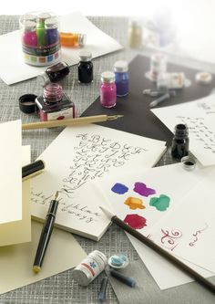 #JHerbin Fountain Pen Ink, Penmanship, Handwriting, Pens, Hand Lettering, Gift Wrapping, Calligraphy, Letters, Fine Art