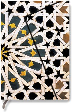 Auto cad drawing of Hispano-Moresque tile from the 15th century. The originals are in the Alhambra in Spain. Our reproductions are  hand made in a mold with a high relief tactile quality. It is on a terra cotta body and quite thick and heavy.