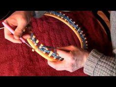 Loom Knit A Shawl On A Circle Loom | Loom Knitting Videos