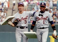 Alan Trammell and Lou Whitaker walk off the field at Camden Yards with bases presented to them by the Orioles after the final game of the 1995 season. The game was the last game together for the longtime teammates. Trammell is hoping that Barry Larkin's near-certain election to the Baseball Hall of Fame will improve his chances. Whitaker received less than three percent of votes in 2001, his first year of eligibility. He will be eligible again in 2015. (Reuters)  ANTONEN: Few choices are to