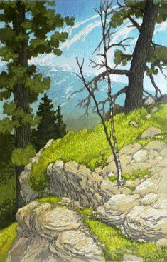 Meridian Peak by Leon Loughridge  http://coloradocreates.com/leon-loughridge-meridian-views-at-goodwin-fine-art/#